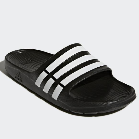 856265a54add Adidas Duramo Slides Men s Slip-on Sz. 10 Black